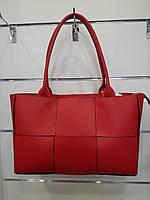 Сумка Virginia conti квадратне плетіння червона