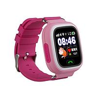 Детские смарт-часы Q90 с GPS-трекером и SIM-картой розовые