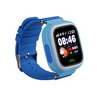 Детские смарт-часы Q90 с GPS-трекером SIM-картой синие