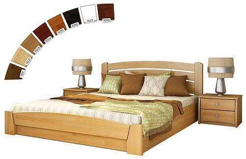 Ліжко півтораспальне з підйомним механізмом з натуральної деревини буку Селена Аурі Естелла