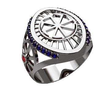 Кольцо серебряное Коловрат 30228