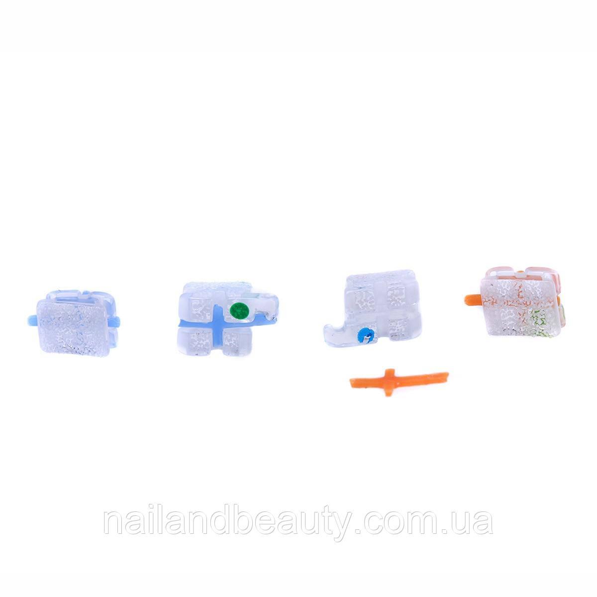 Стоматологическая Ортодонтическая щеточка монокристаллический сапфировый кронштейн подтяжки мини рот/MBT.022