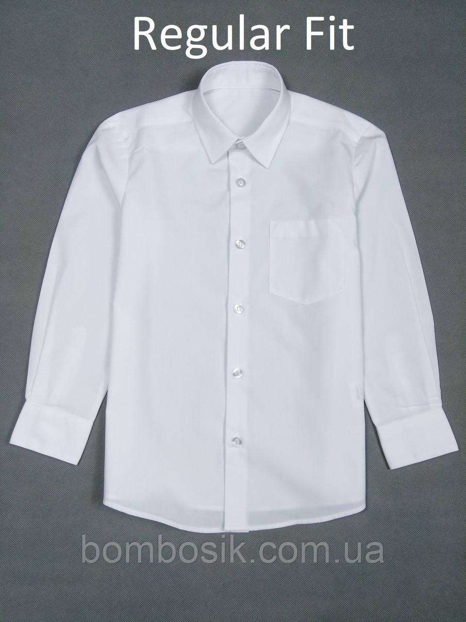 Рубашка белая для мальчика George Regular Fit, 5-6л (110-116см)