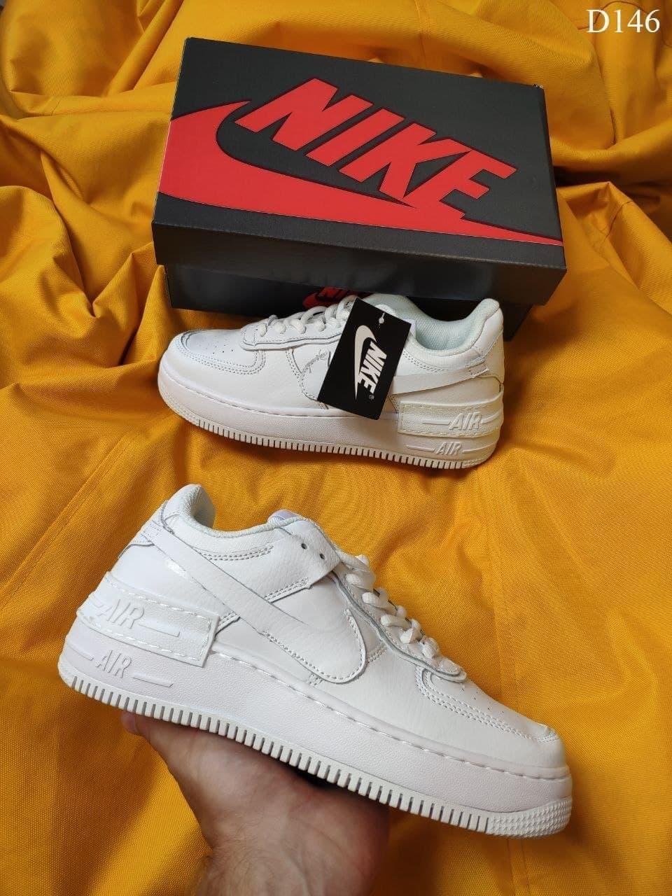 Жіночі кросівки Nike Air Force 1 Shadow (білі) D146 стильні молодіжні кроси