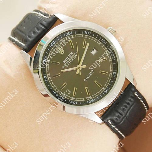 Модные наручные часы Rolex Data Silver/Black 2015