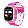 Детские смарт-часы Q90pro LBS+GPS+WIFI с шагомером и кнопкой SOS розовые