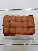 Сумка-клатч Virginia conti пудра Bottega Veneta коричнева
