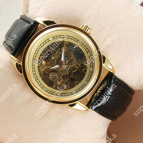Практичные наручные часы Rolex Oyster Perpetual Black/Gold/Gold 2016