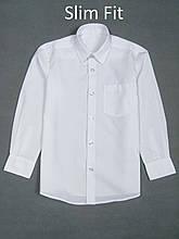 Рубашка белая для мальчика George Slim Fit, 5-6л (110-116см)