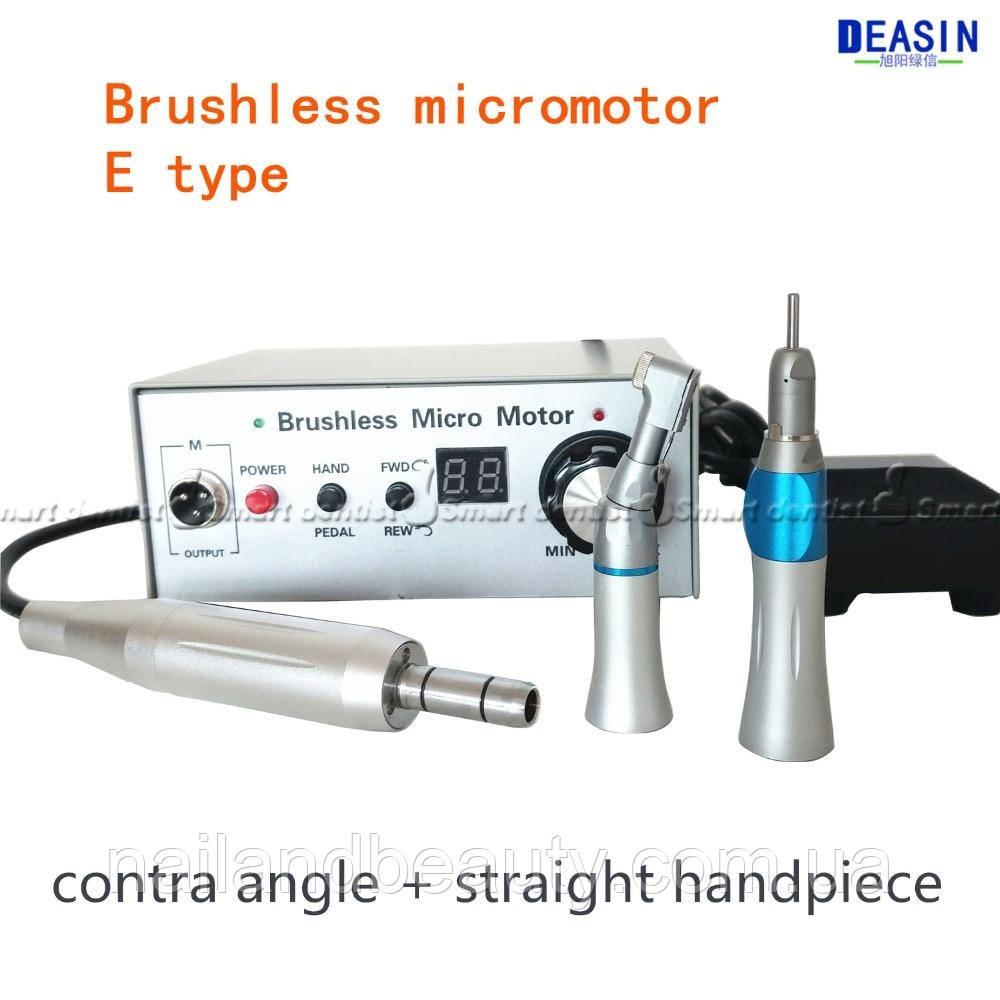 Стоматологічний мікромотор 50000 об/хв, полірувальний блок з контр-кутом і прямою ручкою,