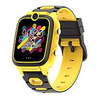 Детские смарт-часы Q67 с камерой играми MP3 и родительским контролем желтые