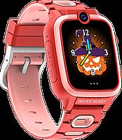 Детские смарт-часы Q67 с камерой играми и родительским контролем красного цвета