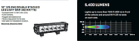 LED фара (25 СМ) DOUBLE STACKED LED LIGHT BAR (60 WATTS)