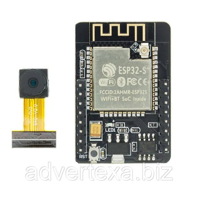 Модуль ESP32-CAM з камерою OV2640, WiFi і Bluetooth двоядерний процесор