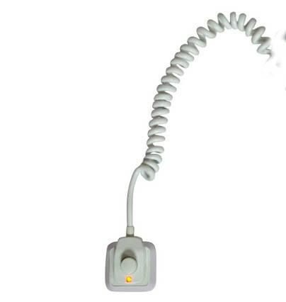 Полотенцесушитель с терморегулятором Флюгер-4 поворотный белый, фото 2