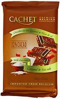 Бельгийский шоколад Premium Cachet Caramel & Sea Salt (карамель и морская соль), 300 гр