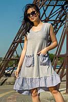 Платье Шамони свободного кроя  с воланом из вискозы  46 50 размер разные цвета
