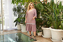 Сукня жіноча Креп софт Розмір 50 52 54 56 58 60 62 64 Різні кольори