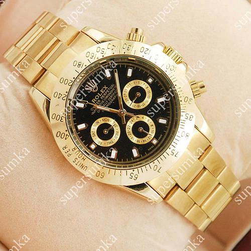 Элегантные наручные часы Rolex Daytona Men Gold/Black 2026