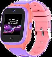 Детские смарт-часы Q55 с GPS и родительским контролем розово-фиолетовые