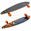 Скейтборд (лонгборд) с бесшумными колесами, 85*22 см, абстракция, колеса PU, d = 7 см (C32027)