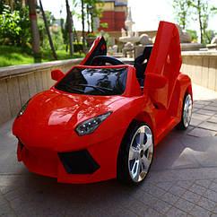 Дитячий легковий електромобіль від 3-х до 8-ми років, 2 мотора по 20W, 1 аккум, MP3, Bluetooth, T-7645 Eva Red