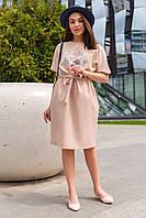 Платье Вихрь свободного фасона без застежки 46-52 размер разные цвета