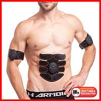 Миостимулятор для тренировки всех групп мышц SMART FITNESS EMS Fit Boot Tonin ZD-0325 серый-оранжевый