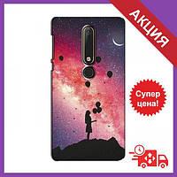 Чехлы с принтом на Nokia 6 2018 / Чехлы с картинкой для Нокиа / Чехлы для Nokia 6 2018 (Шарики в небе)