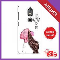 Чехлы с принтом на Nokia 7 / Чехлы с картинкой для Нокиа Нокиа 7 / Чехлы для Nokia 7 (Девушка в маске)
