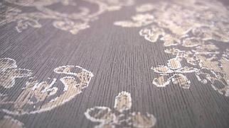 Виниловые обои Carnaby с рисунком коричневого цвета на бумажной основе. Артикул 42632