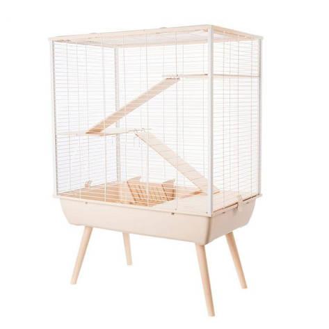 Клітка для кроликів, морських свинок, шиншил, тхорів, триповерхова 78 х 48 х 80 см, фото 2