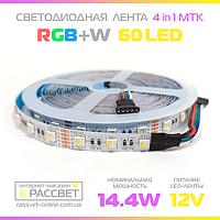 Светодиодная LED лента RGBW MTK-4in1-300RGB-W 5050 60LED 14.4W/m IP20