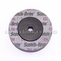 Круг скотч-брайт УШМ М14 100х25 мм EXL 2S-FIN 3M