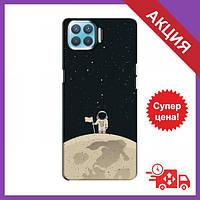 Чехол с принтом для OPPO A73 / Чехол с картинкой на Оппо А73 / Чехол для OPPO A73 (Космонавт на луне)