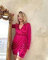 Ефектне шовкове плаття з асиметричною спідницею