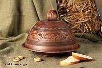 """Глиняна хлібниця орнамент """"кучерявий"""""""