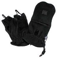 Перчатки беспалые MFH с клапаном флис Черные