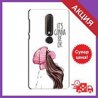 Чехлы с принтом на Nokia 6 2018 / Чехлы с картинкой для Нокиа / Чехлы для Nokia 6 2018 (Девушка в маске)