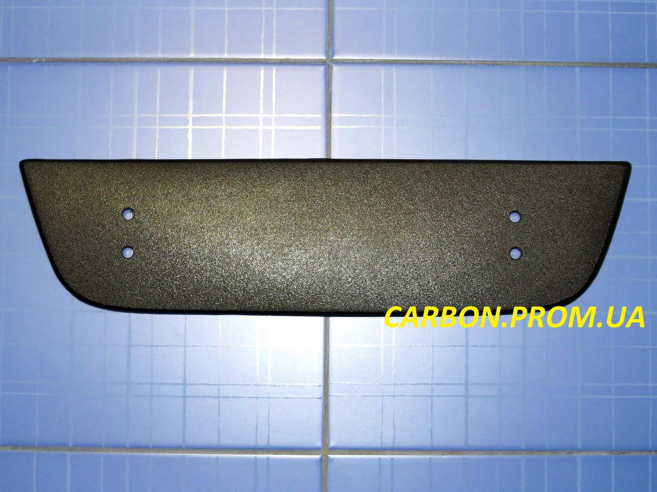 Зимова заглушка решітки радіатора Фіат Добло низ з 2005 матова Fly. Утеплювач решітки радіатора Fiat Doblo