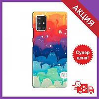 Чехол для Samsung Galaxy A72 / Бампер на Samsung Galaxy A72 / Чехол для Самсунг Гелекси А72 (Mew)
