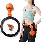 ОПТ Массажный обруч Pro Massaging Hula Hoop умный хулахуп тренажер со счетчиком для похудения портативный, фото 4