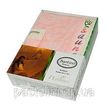 Набір для сауни жіночий Gursan Bamboo, лососевий, 2 предмета бамбук 100%