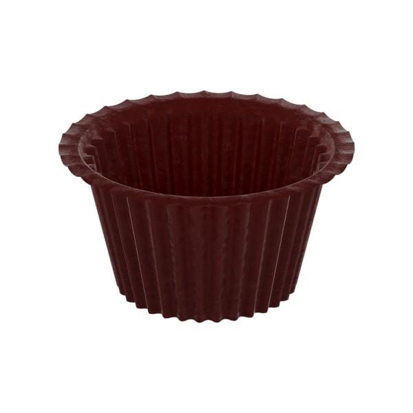 Форма паперова для кексів, Коричнева, капсула. 50*35 мм