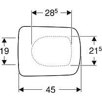 Сидіння з кришкою Geberit Selnova Square прямокутне,Soft Close дюропластів,швидкознімна кріплення зверху, фото 3