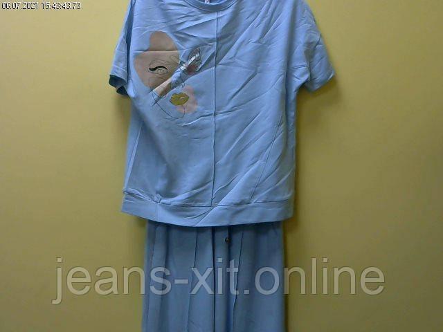 Fashion костюм жіночий 36(р) блакитний 3309 Di Main Туреччина Літо-D