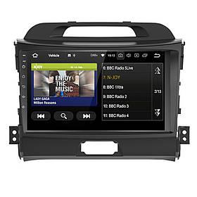 Штатна автомобільна магнітола 9 Kia Sportage GPS потужність 4х50 Вт пам'ять 1+16 ГБ Wi Fi КОД: 3999-11392