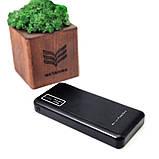Акумулятор зовнішній 10000 mah універсальний Портативний зарядний power bank 3 в1 МАГНИТ 3в1 + ліхтарик павер банк, фото 3