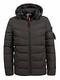 Зимова тепла коротка курточка на хлопчика на хутрі з капюшоном, фото 6