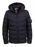Зимова тепла коротка курточка на хлопчика на хутрі з капюшоном, фото 4